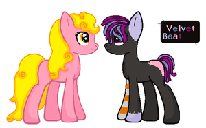 Tequila Sunrise+Velvet Beat  Breedable by FrankinPoodle