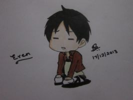 Chibi Eren by StrawberriNinja