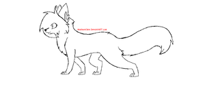 Cat Walking Lineart by Mads-Adoptables