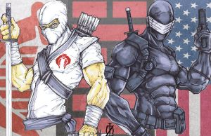 Snake Eyes Storm Shadow G.I.Joe by ChrisOzFulton