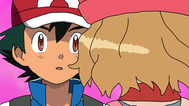 Amourshipping Canon Screenshot Redraw by cartoonobsessedSTAR1
