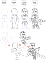 How to Draw a DnD Fighter Chibi by TheAnimaster