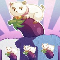 Bee and Puppycat - Eggplant Tee by RasTear