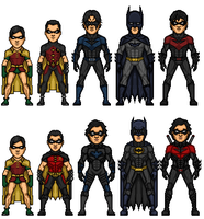 Evolution of Dick Grayson 2 by MicroTraceour