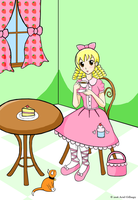 Sweet Lolita at Tea Cafe by cuteordeath