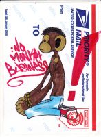 No Monkey Business by mutegraffer