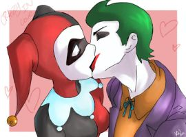 Joker and Harley by chocolatecherry