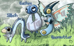 inchworm pokemon 6th gen by farreer