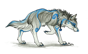 Blue Wolf Spirit by BlueSpiritWolf6