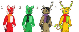 ~CLOSED~ FREE Deer Adoplables - Batch 2 by Roxie-the-Charizard