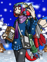 Winter stroll with Yahtzee by coyotepack