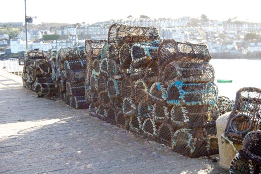 Fishing nets at St Ives by CactusKiwi