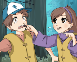 Dipper and Mabel - Scene reanimated by MiyajimaMizy