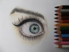 Colored Eye by Mishice