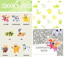 Spooky Pies Stickers by lemonflower
