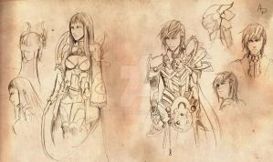 Sketch - character concept - by AnaPaula07