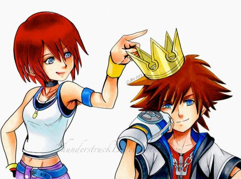 Sora and Kairi- Kings and Queens by ThunderstruckB