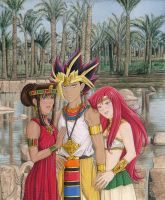 Yami, Teana and Bastet by Yamigirl21