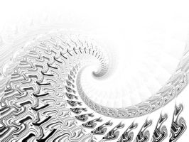. spiral black-white . by intoXxXinfinity