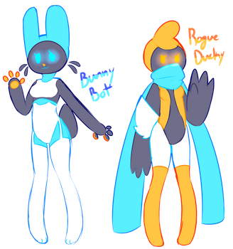 [SOLD] ROBOT GIRLS AUCTION by royalraptors