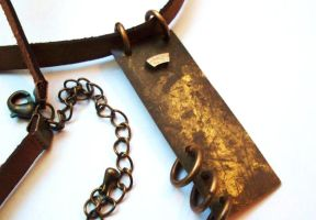 Rust Necklace by salvagedsword