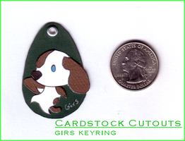 CardstockCutouts- Girs Keyring by chaoticdreamer