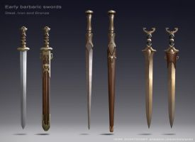 Barbaric swords by Igor-Zhovtovsky