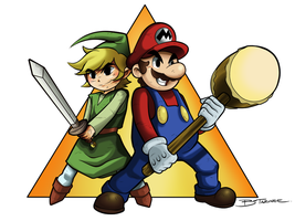 Mario and Link by darkchapolin