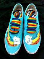 Rainbowdash Bronie Styled Shoes by CosplayPropMaster