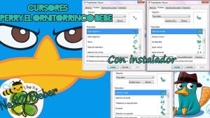 Cursores Perry el ornitorrinco baby by Cursorsandmore