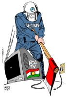 Closure of Kurdish TV by Latuff2