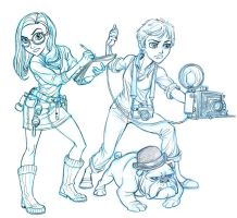 Girl Reporters and buddy by tombancroft