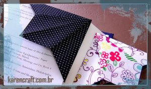Bookmark - fabric origami by KarenKaren