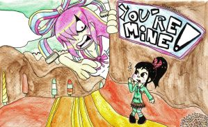 Giffany and Vanellope - With Colors by SteamTanuki