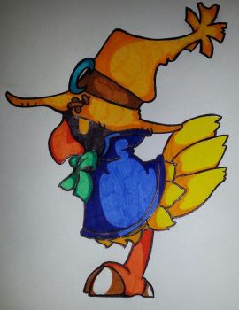 Chocobo de Black Mage by InuYoukai-Chan