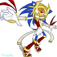 Sonic as Enerjak by HezuNeutral