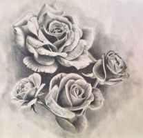 Roses tattoo design/drawing by PufferfishCat