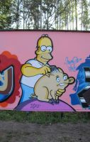 Homer and spiderpig - may 2010 by Aamukaksi