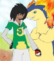 Trainer JZ and Tiroshu by AJgirl