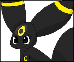 Pixel umbreon by clyvore