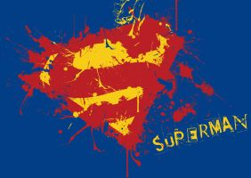 Superman splatter logo by fraser0206