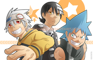 Soul Eater Guys Print by silverava