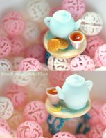 Alice Blue Tea Ring by StrangeWonderland