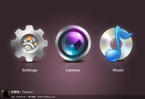 camera/music/settings icon by tiancia