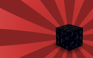 Minecraft Obsidian Block by maxicube
