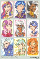 ACEO MLP: Friendship is Magic gijinka - set 2 by Kiriska