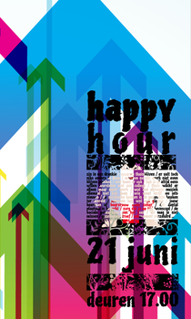 Happy hour poster design tryouts by ronin2121