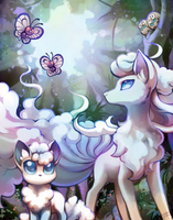 Alolan Ninetails and friends by Celebi-Yoshi