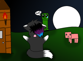 thunder and the creeper by streamthewolf