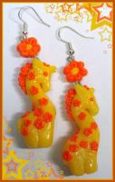 Giraffes earings by Miriele